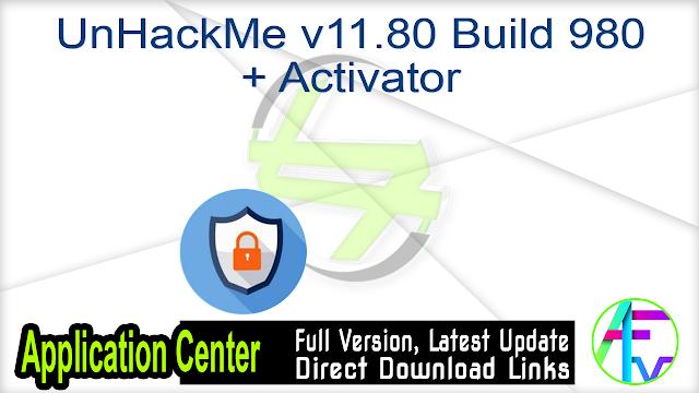 UnHackMe v11.80 Build 980 + Activator