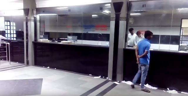 railway reservation counter