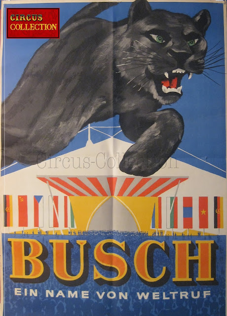 Affiche du Circus Busch circa 1970 collection Philippe Ros