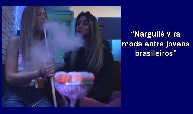 Narguilé vira moda entre jovens brasileiros.