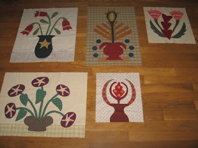 applique flowers for Linda Brannock's Flowers Quilt