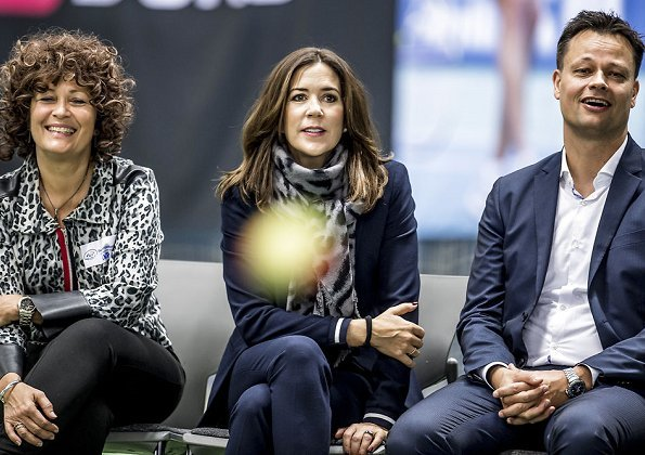 Danish professional tennis player Caroline Wozniacki.Crown Princess Mary LK Bennett wedge, Massimo Dutti