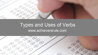 Types and Uses of Verbs - Shortcut Rules