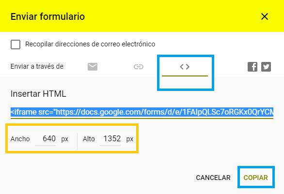 Código para incrustar encuesta de google - Charkleons.com