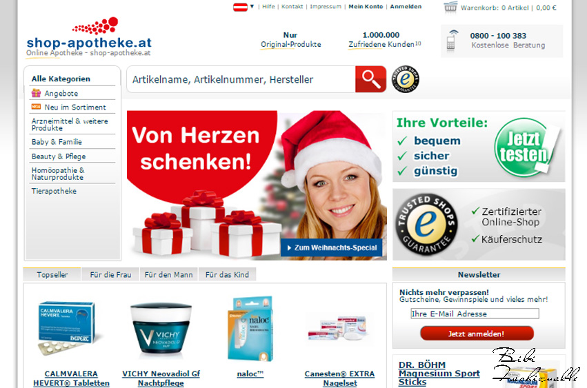 Homescreen Shop-Apotheke