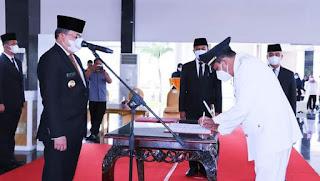 Bupati Muba Dodi Reza Lantik 3 JPT dan 14 Pejabat Administrator