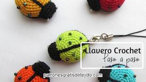 Llavero Crochet Paso a Paso 🐞
