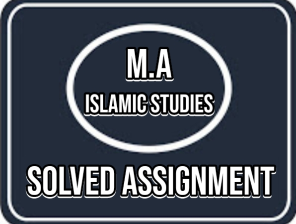 Allama Iqbal Open University Solved Assignment Autumn 2020 M.A Islamic Studies