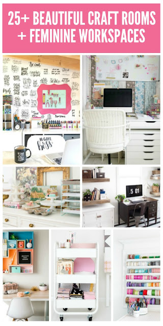 25+ Beautiful Craft Rooms!