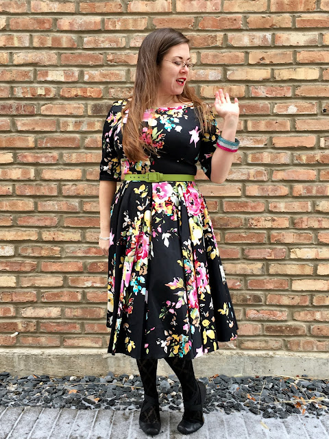 unique vintage pretty dress company black hepburn swing