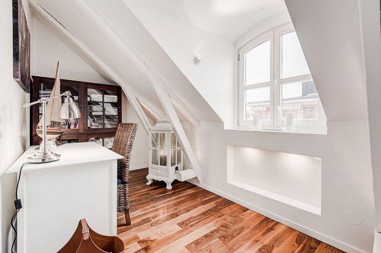 PUNTXET Un ático extremadamente elegante en Estocolmo #decor #decoracion #hogar #home #estilonordico #nordicstyle #study #office #estudio