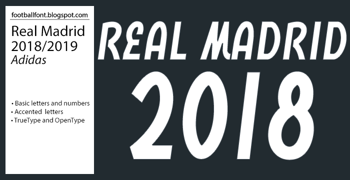 Real madrid jersey font 2019 free download