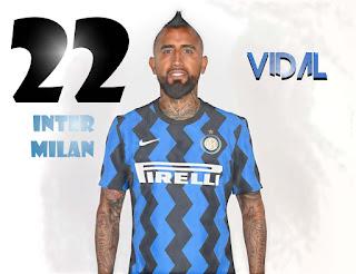 رقم اللاعب فيدال مع انتر ميلان الايطالي 22 , انتقال فيدال الي الدوري الايطالي مع الانتر