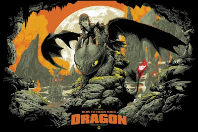 San Diego Comic-Con 2020 Exclusive How to Train Your Dragon Screen Print by Ken Taylor x Mondo