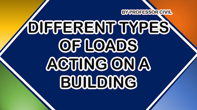 WHAT ARE DIFFERENT TYPES OF LOADS ACTING ON A BUILDING