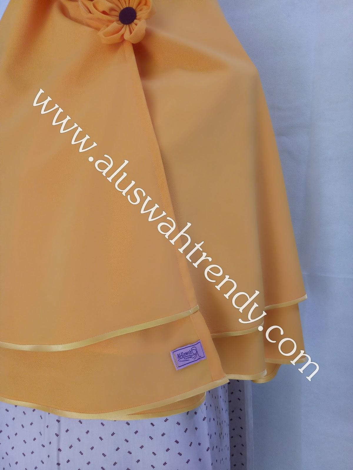 Jilbab Khimar Bolak Balik Warna Orange 16