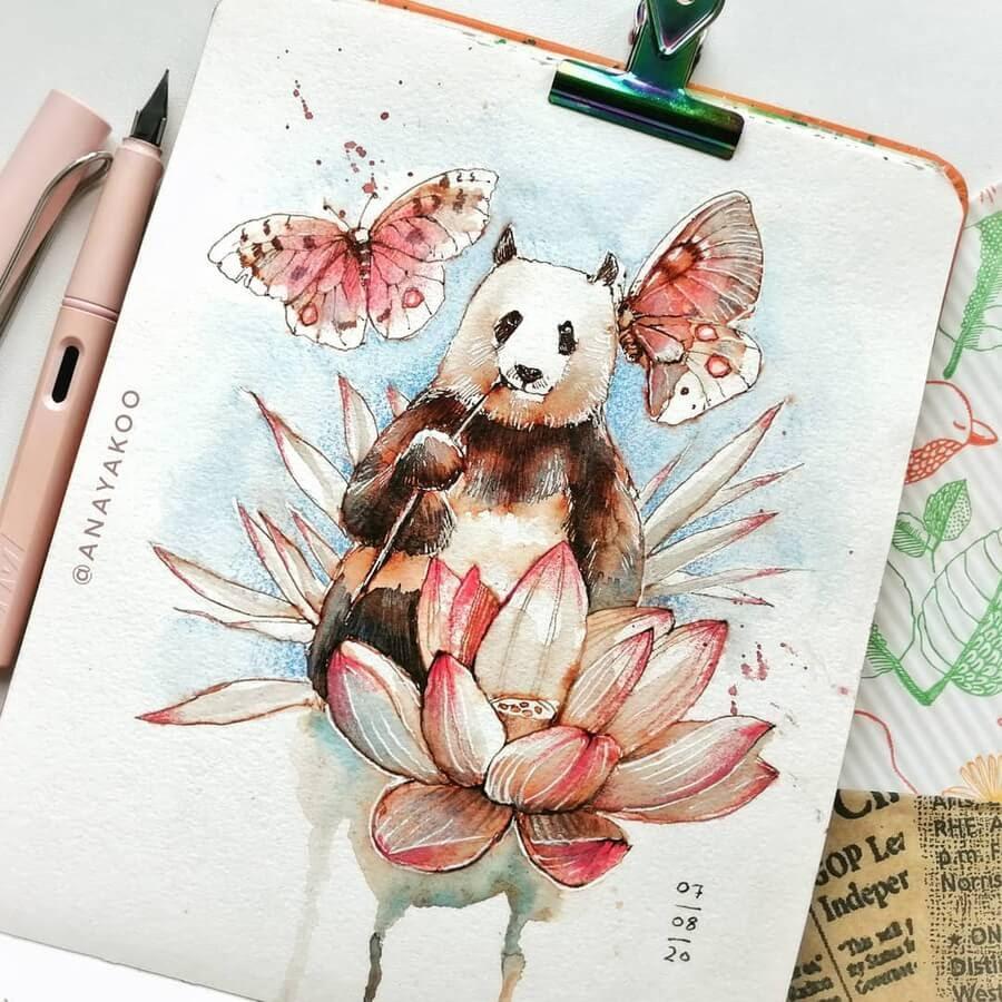08-Zen-Panda-and-butterflies-Anya-Yakovleva-www-designstack-co