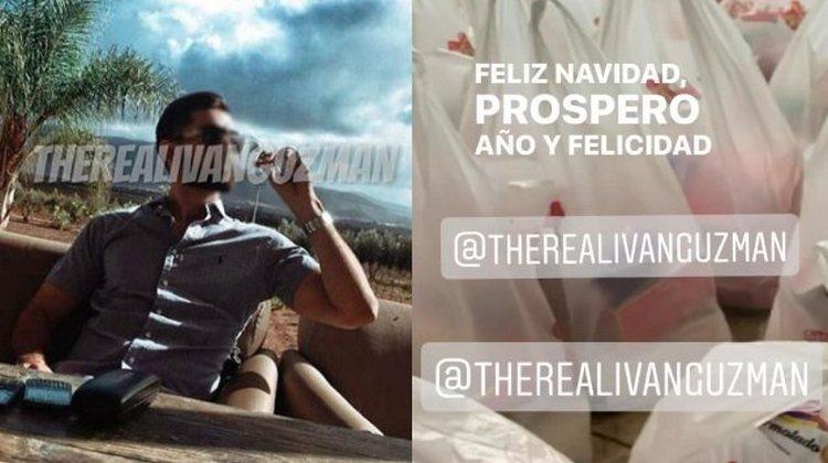 """""""Fe y amor en tu hogar"""": Iván Archivaldo """"El Chapito"""" hijo de """"El Chapo"""" regala despensas por Navidad"""