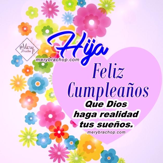 imagen con flores y mensaje cristiano de cumpleaños
