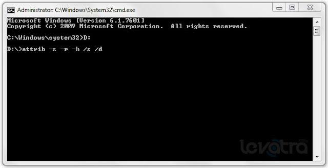 Cara Menghilangkan Virus Shortcut di Flashdisk tanpa Antivirus