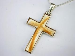 Sterling silver cross shaped pendant for hair