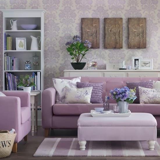 Diseño de sala lila
