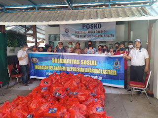 Alumni 89 Akpol Batalyon DL Sumbang 1.000 Sembako, Ini Harapan Irwasda Polda Sulsel