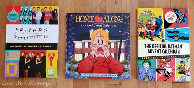 insight editions, advent calendars, movie advent calendars, friends advent calendar, batman gifts, home alone christmas