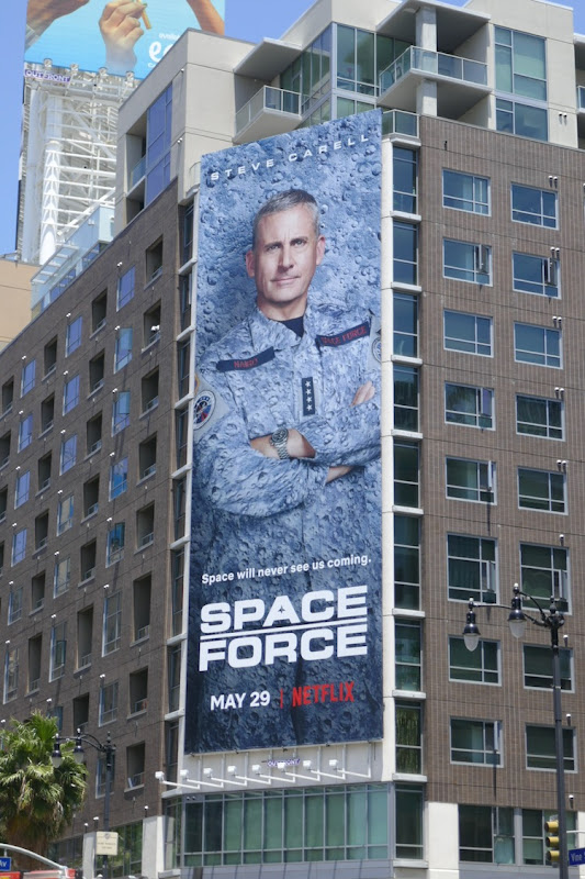 Steve Carell Space Force Netflix billboard