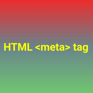 HTML <meta> tag