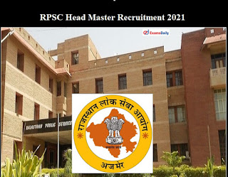 Rajasthan PSC Recruitment 2021 For 87 Head Master Vacancy