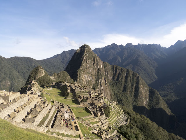 Iconic Machu Picchu image viewed from above