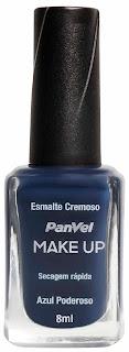 Esmalte Panvel Make Up Azul Poderoso: R$ 4,35