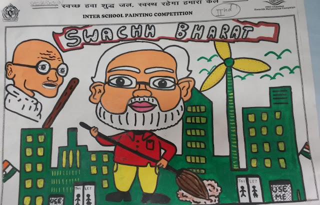 One of the paintings by a School Student on the theme Swachh Paryavaran (2)