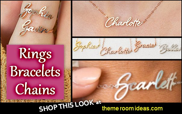 Name Necklace Custom Name Necklace Name Bracelet Initials Bracelets  Custom Name  rings