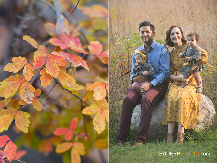 Fall Family Portrait Photography SudeepStudio.com Ann Arbor Family Portrait Photographer