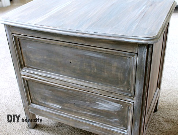 add a touch of white to DIY driftwood paint treatment