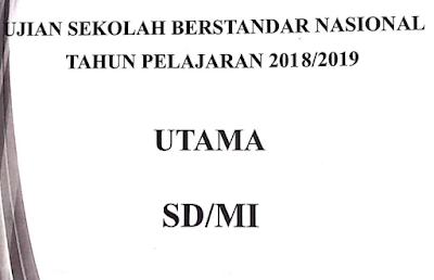 Soal USBN Matematika Tahun 2019