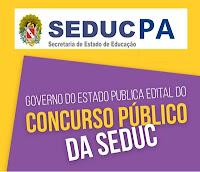 concurso público Secretaria de Estado da Educação do Pará