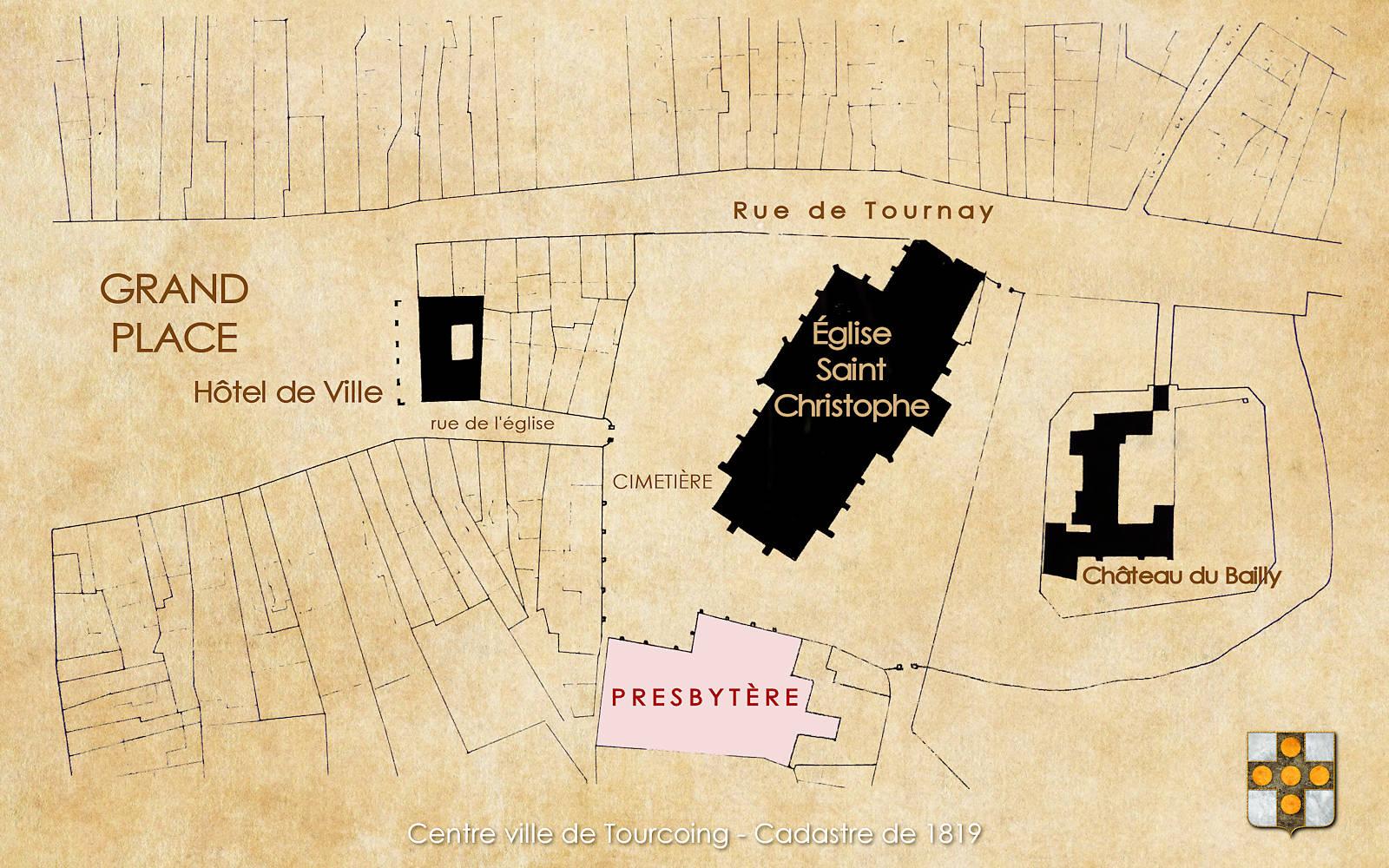 Cadastre Tourcoing 1819 - Presbytère