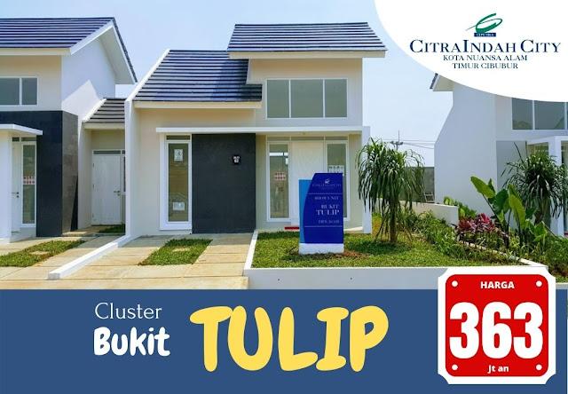 Cluster Bukit TULIP Citra Indah City dipasarkan - Harga mulai 363 Jt an