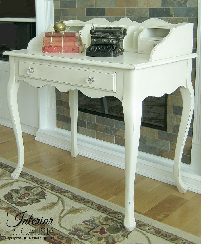 French Provincial Secretary Desk Makeover