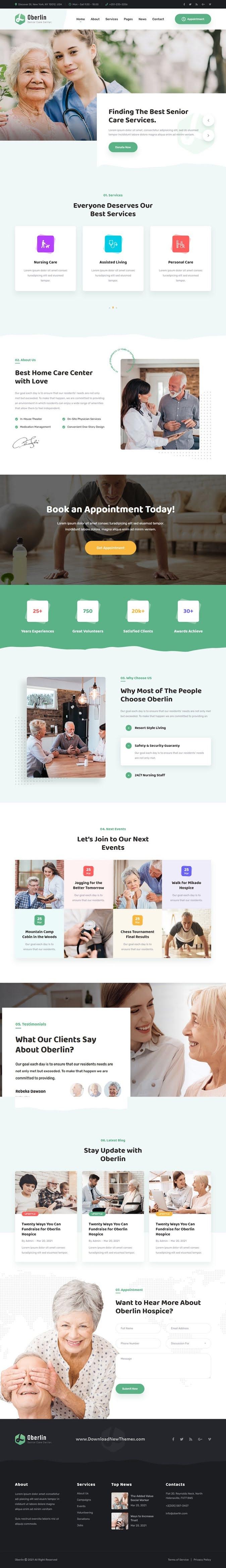 Senior Care Bootstrap Template