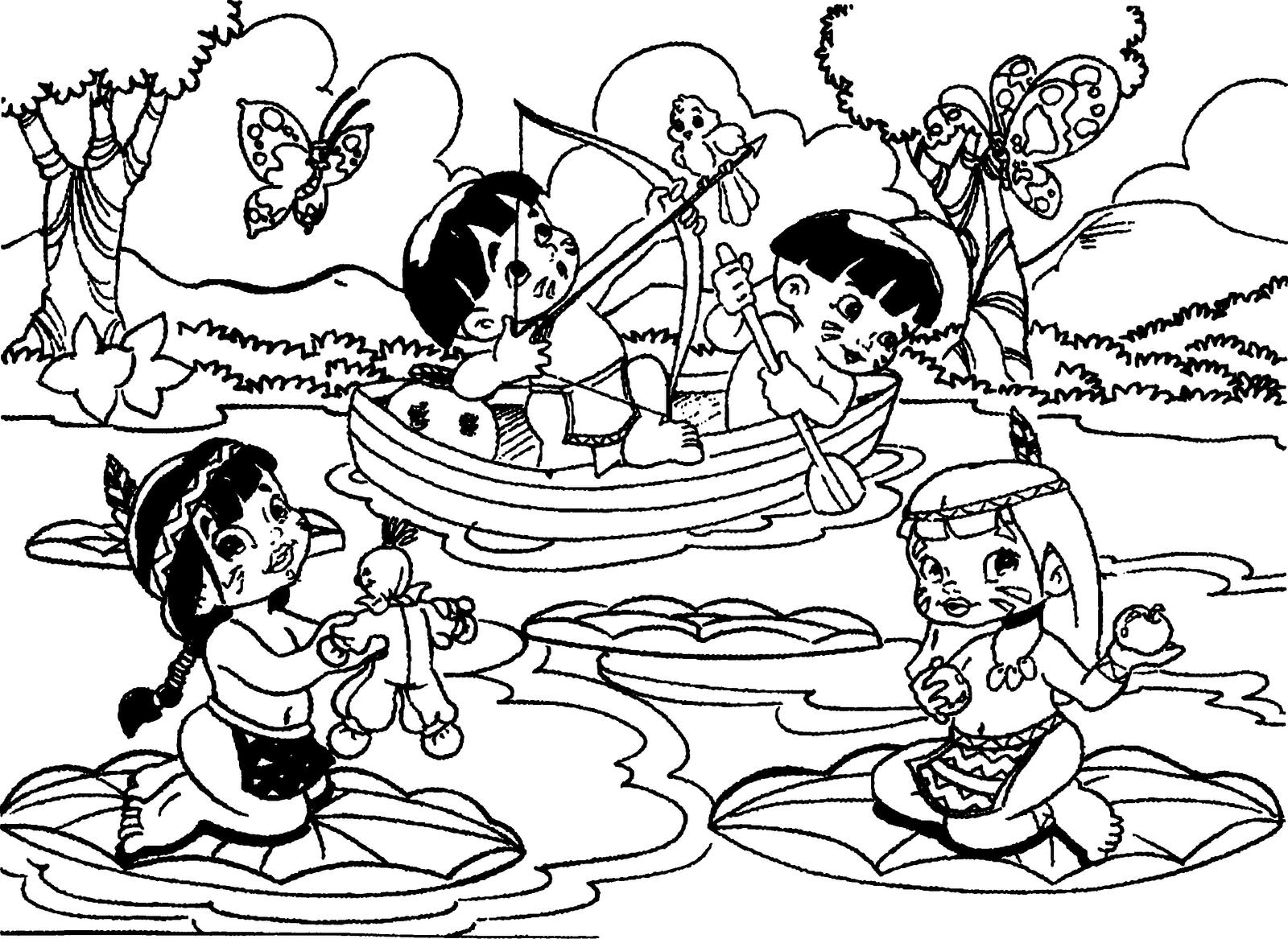 Desenho do dia do índio para colorir