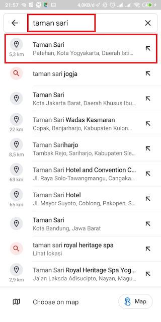 Cara Share Lokasi Google Maps ke WA 7