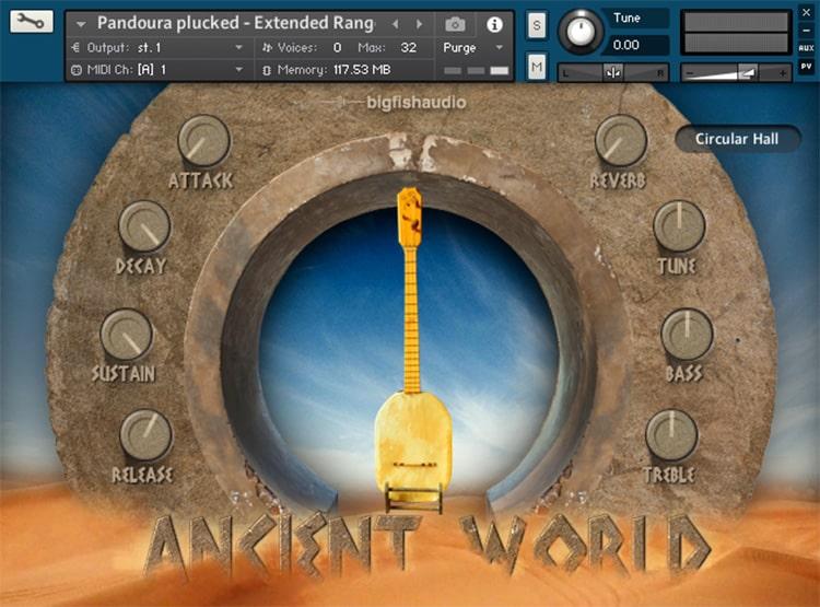 Interface Ancient World: Instruments of Antiquity - Big Fish Audio (KONTAKT)
