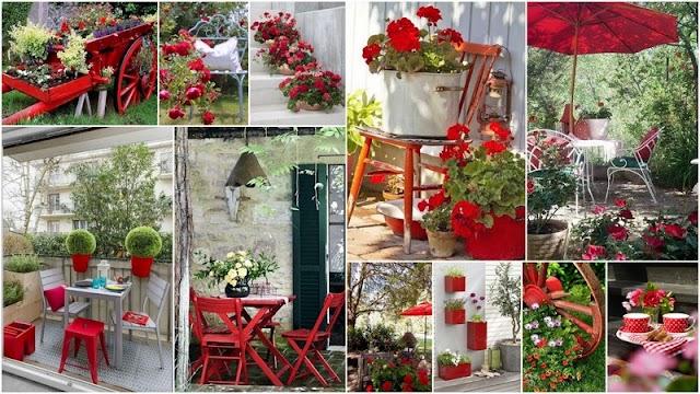Κόκκινες ...Πινελιές στην αυλή ή το μπαλκόνι σας