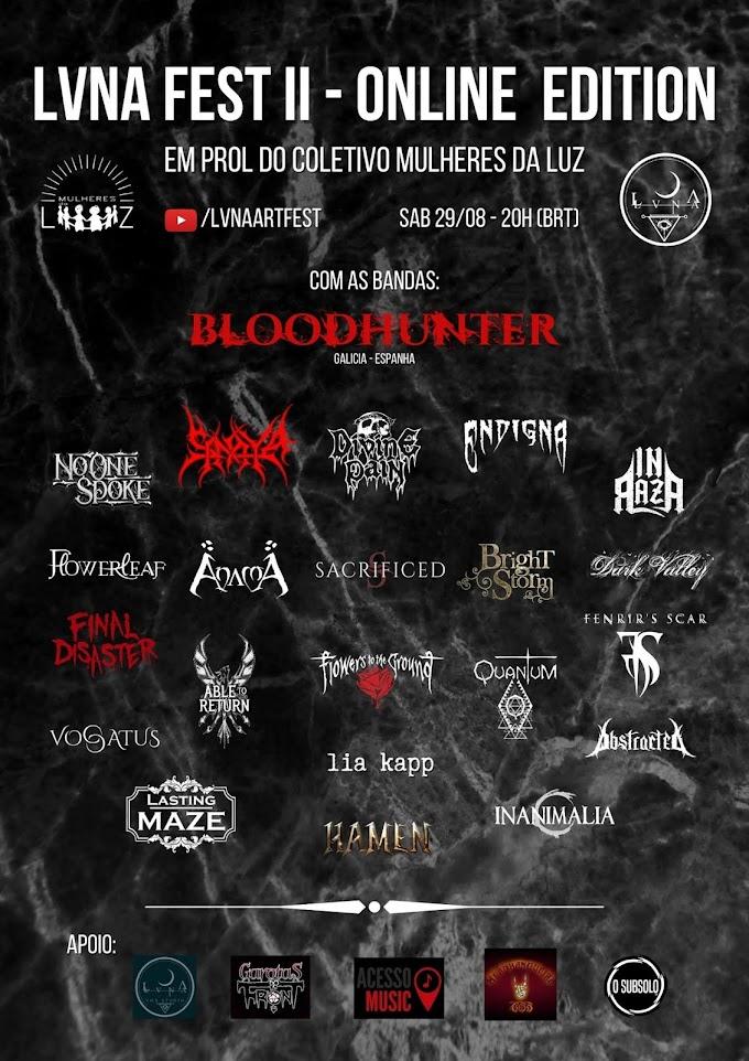 Conheça as Bandas: LVNA Fest II - Online Edition