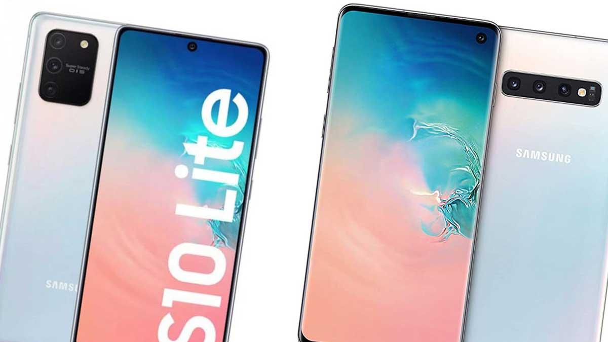 مقارنة هاتف Galaxy S10 + و Galaxy S10 Lite