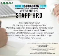 We Are Hiring at PT. World Innovative Telecommunication (OPPO Surabaya) Desember 2019
